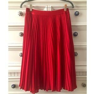 Express Pleated Red Dress